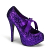 TEEZE-10G Faux Leatherrple Glitter